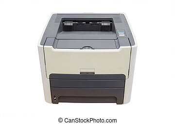 Printer isolated under the white background