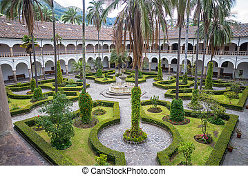 Garden of San Francisco - High view of one of the gardens of...