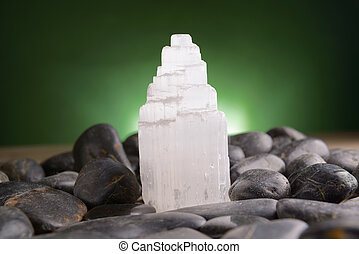 Mineral gypsum selenite - Selenite natural crystal mineral...