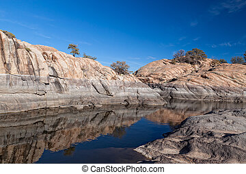 AZ-Prescott-Granite Dells - This is Willow Lake, a hiking...