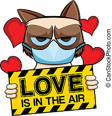 Grumpy cat love is in the air - Grumpy cat who has allergy...