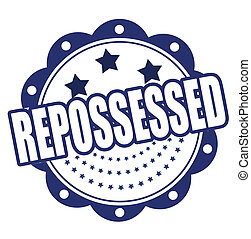 repossessed grunge stamp whit on vector illustration