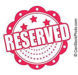 reserved grunge stamp whit on vector illustration