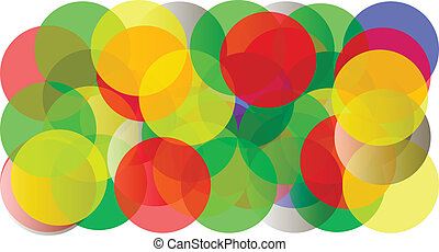 Abstract coloured spheres background