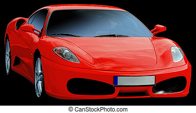 Italian car - Sport, red italian luxury car Isolated with...