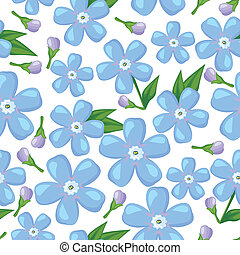 Forget-me-not flower seamless pattern - Seamless pattern...