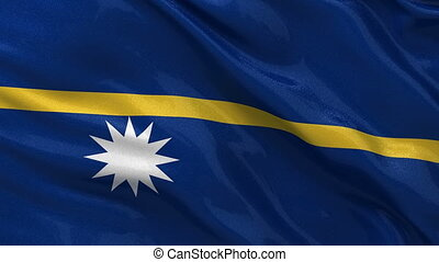Flag of Nauru - seamless loop - Flag of Nauru gently waving...
