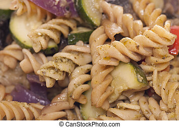 Vegetable pasta abstract