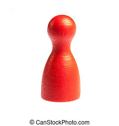 Single pawn leisure game figure - Single red pawn leisure...