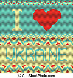 I love Ukraine Illustration. knitting pattern - I Love...