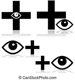 Eye doctor - Concept illustration showing an icon for an eye...
