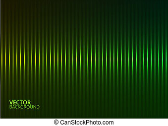 Vector Illustration of a Green Music Equalizer - Vector...