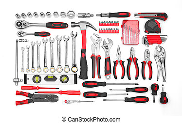 Many Tools isolated on white background
