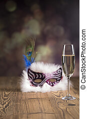 Fancy dress ball, Carnival mask - Fancy dress ball or party,...