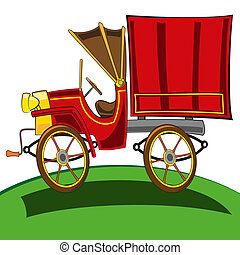 Delivery truck - vector illustration of a Vintage delivery...