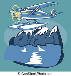 Sea Plane - Passenger Sea Plane is featured flying over...