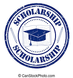 Scholarship stamp - Scholarship grunge rubber stamp on...