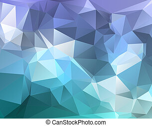 Polygon triangle abstract background in blue purple hues -...