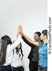 Indian Business women celebrating. - Indian Business team...