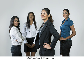 Indian Business woman and her team