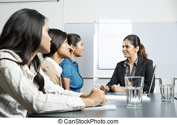 Indian businesswomen having a meeting