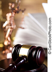 Gavel on legal code - Law and justice concept