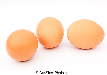 close up, fresh brown colored chicken egg is a naturally...