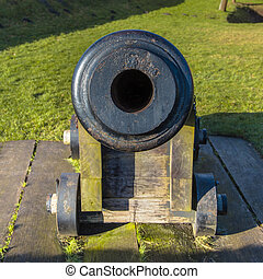 Frontal View Old Cannon Barrel - Barrel Opening of an...