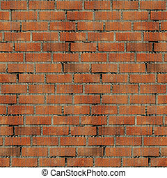 wall - Realistic image of a masonry wall which by pasting...
