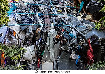 Scrapyard - A scrapyard full of compressed waste