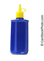 Blue Plastic Oil Bottle