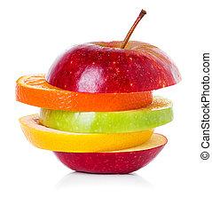 fruit mix isolated