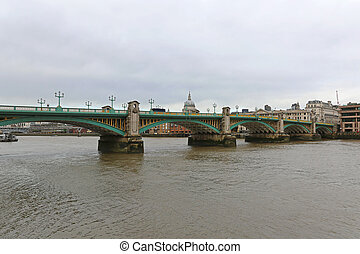 Southwark Bridge over Thames River in London