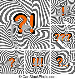 Design punctuation marks set. Question and exclamation marks