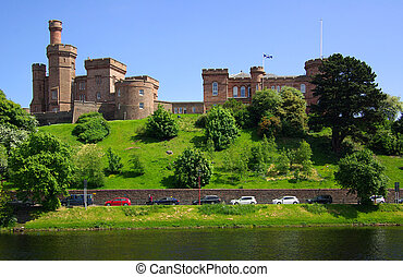 Castle in Inverness, Scotland - Castle in Inverness,...