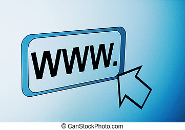 internet browser showing a www communication concept
