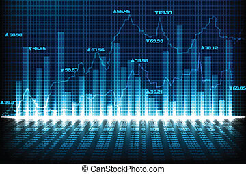 Financial Graph Chart - easy to edit vector illustration of...