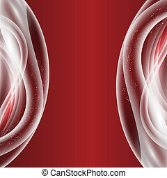 red vector abstract background