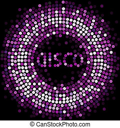 violet disco light - abstract violet background from mosaic...