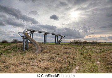 Gas Pipe - The gas pipeline running at tetney Heaven