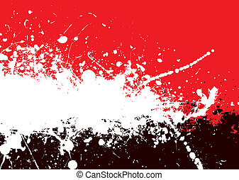 divide tone - Red and black abstract background with ink...