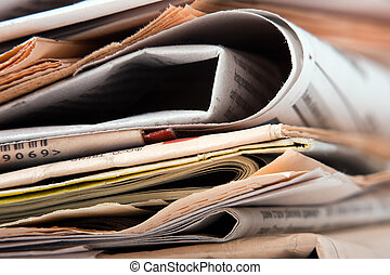 Newspapers - The big stack of old business newspapers