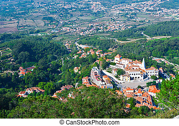 Sintra - View to Historic Center City of Sintra, Portugal