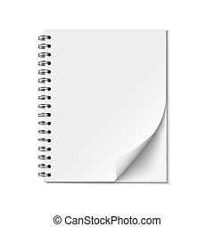 Blank realistic spiral notepad Vector EPS10