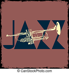 Trumpet - musical vector background