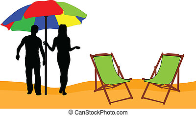 Holidays - relax on the beach