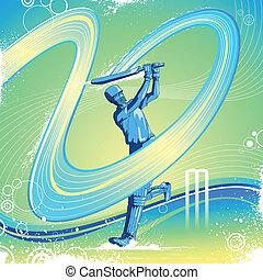 Cricket Batsman - easy to edit vector illustration of...