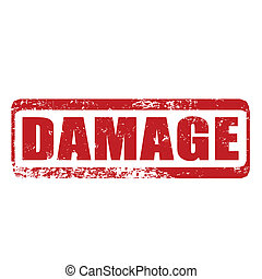damage grunge stamp whit on vector illustration