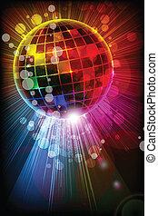 Shiny Disco Ball - easy to edit vector illustration of shiny...
