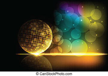 Shiny Disco Ball - easy to edit vector illustration of shiny...